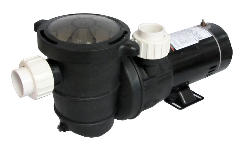 High Performance Swimming Pool Pump Above-Ground 1.5 HP with Union Fittings