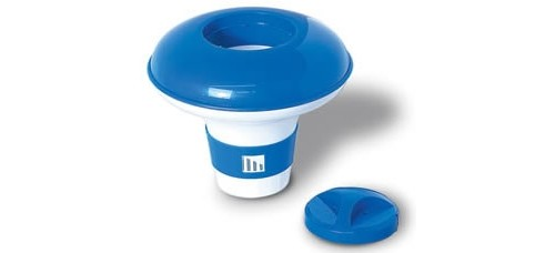"""Floating Chlorine Bromine Dispenser for Swimming Pools 9"""" with Twist Lock Cap"""