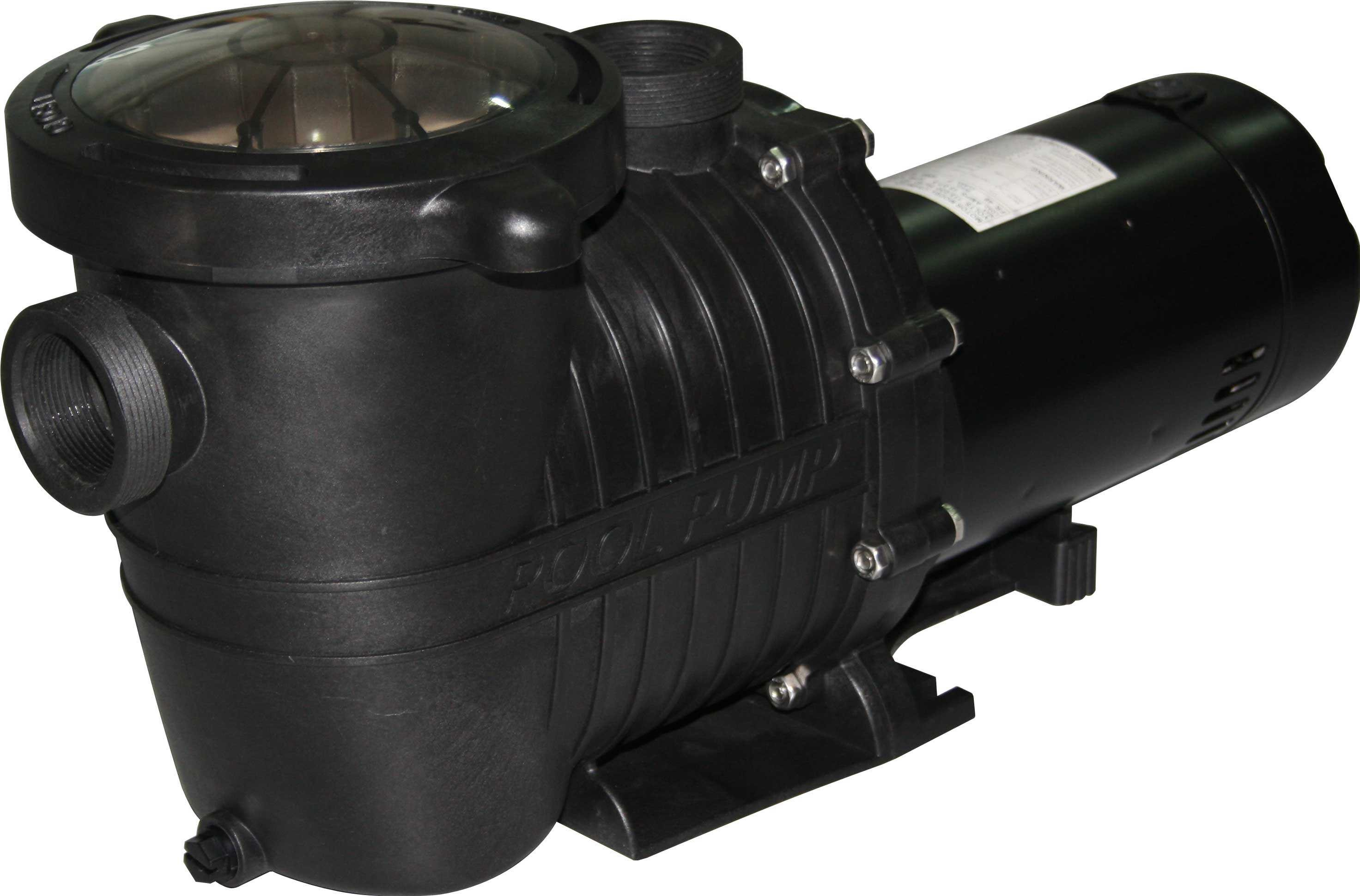 This energy efficient in ground pool pump has two speeds Low Speed for everyday operation and