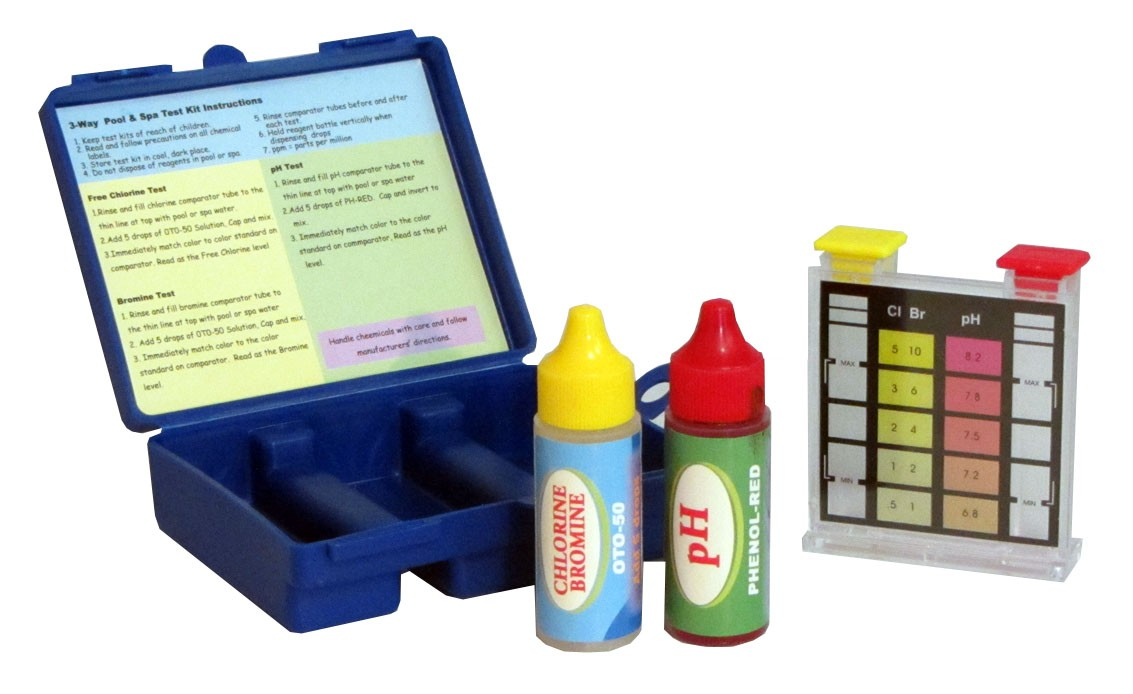 Swimming Pool Water Test Kit for Chlorine, Bromine and PH