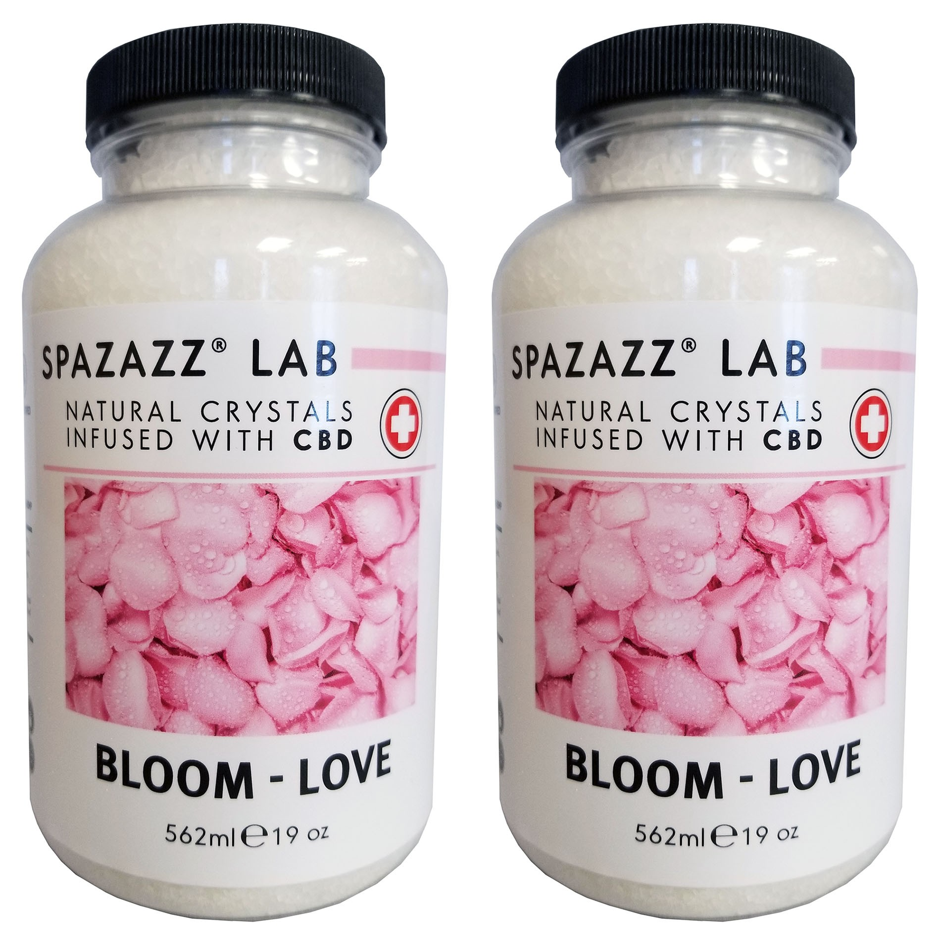 Spazazz Aromatherapy Spa & Bath Crystals Infused with CBD - Bloom Love 19oz 2PK