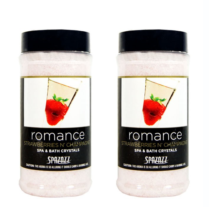 Spazazz Aromatherapy Spa and Bath Crystals- Strawberries n' Champagne 17oz 2Pack