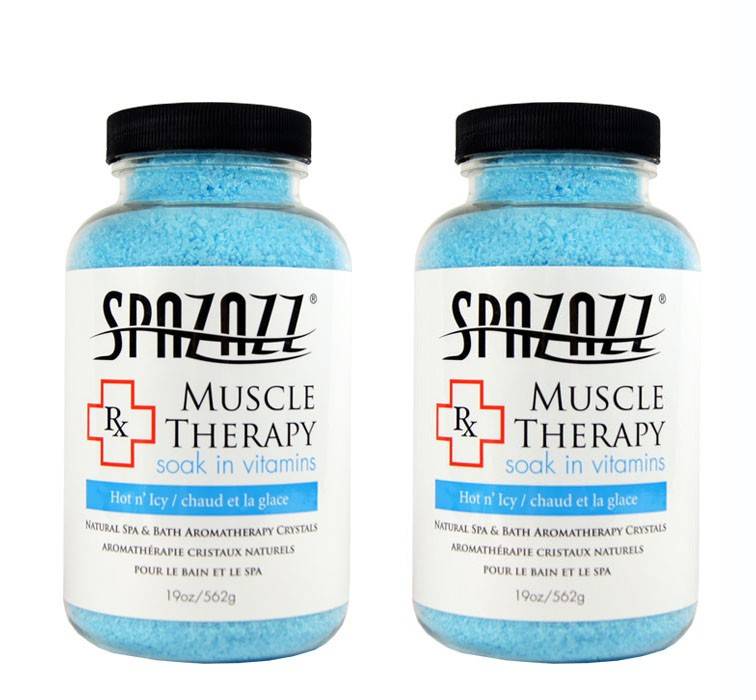 Spazazz Aromatherapy Spa and Bath Crystals - Muscular Therapy 19oz (2 Pack)
