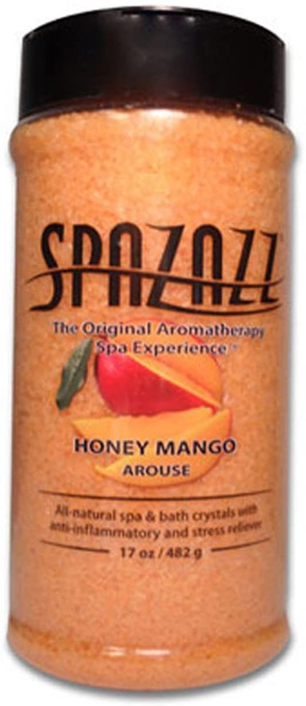 Spazazz Aromatherapy Spa and Bath Crystals - Honey Mango 17 oz