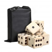 Hathaway High Roller Yard Dice Set with Black Nylon Storage Bag