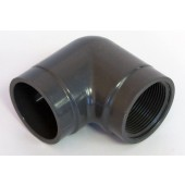 "Drain 90 degree 1.5"" Gray - PVC"