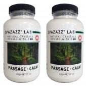 Spazazz Aromatherapy Spa & Bath Crystals Infused with CBD -Passage Calm 19oz 2PK