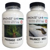Spazazz Aromatherapy Spa and Bath Crystals Infused with CBD - Calm/Well 19oz