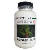 Spazazz Aromatherapy Spa and Bath Crystals Infused with CBD - Passage Calm 19oz