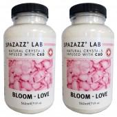 Spazazz Aromatherapy Spa & Bath Crystals Infused with CBD - Bloom Love 19oz 2PK