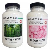 Spazazz Aromatherapy Spa and Bath Crystals Infused with CBD - Love/Wood 19oz