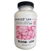 Spazazz Aromatherapy Spa and Bath Crystals Infused with CBD - Bloom Love 19oz