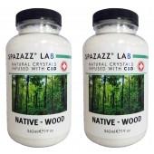 Spazazz Aromatherapy Spa & Bath Crystals Infused with CBD - Native Wood 19oz 2PK