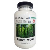 Spazazz Aromatherapy Spa and Bath Crystals Infused with CBD - Native Wood 19oz