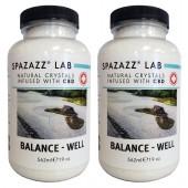 Spazazz Aromatherapy Spa & Bath Crystals Infused with CBD -Balance Well 19oz 2PK