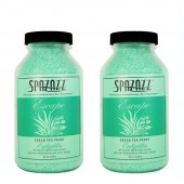 Spazazz Aromatherapy Spa and Bath Crystals - Green Tea Peony 22oz (2 Pack)