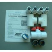 Diverter Valve Kit For Solar Swimming Pool Heating Panels -Turns System On/Off