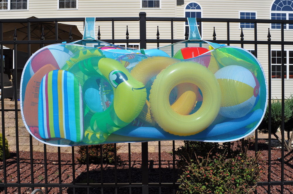 Pool Pouch For Water Toys And Swimming Pool Floats Hanging Storage Bag