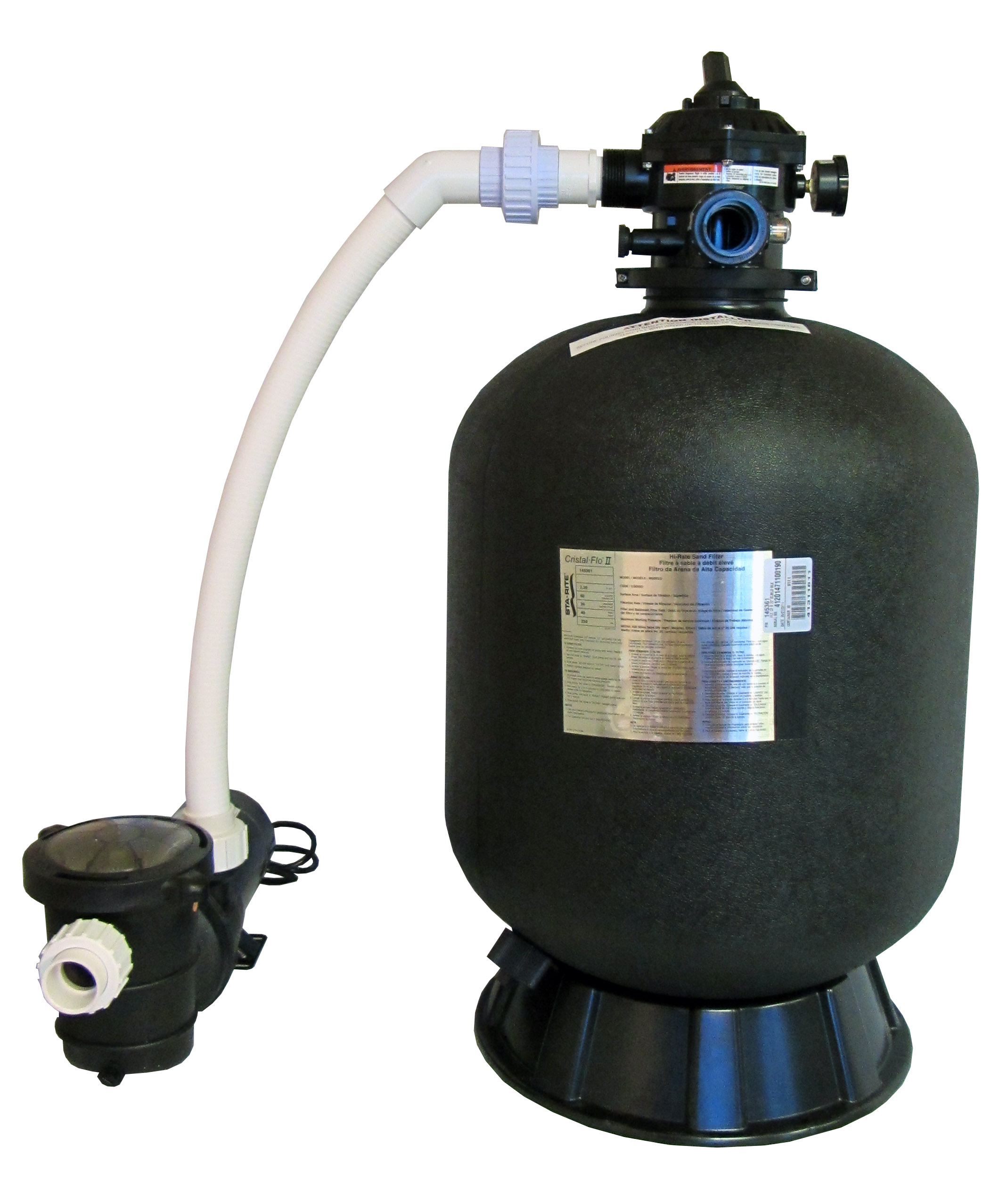 Sta rite above ground swimming pool sand filter system for Pond sand filter system