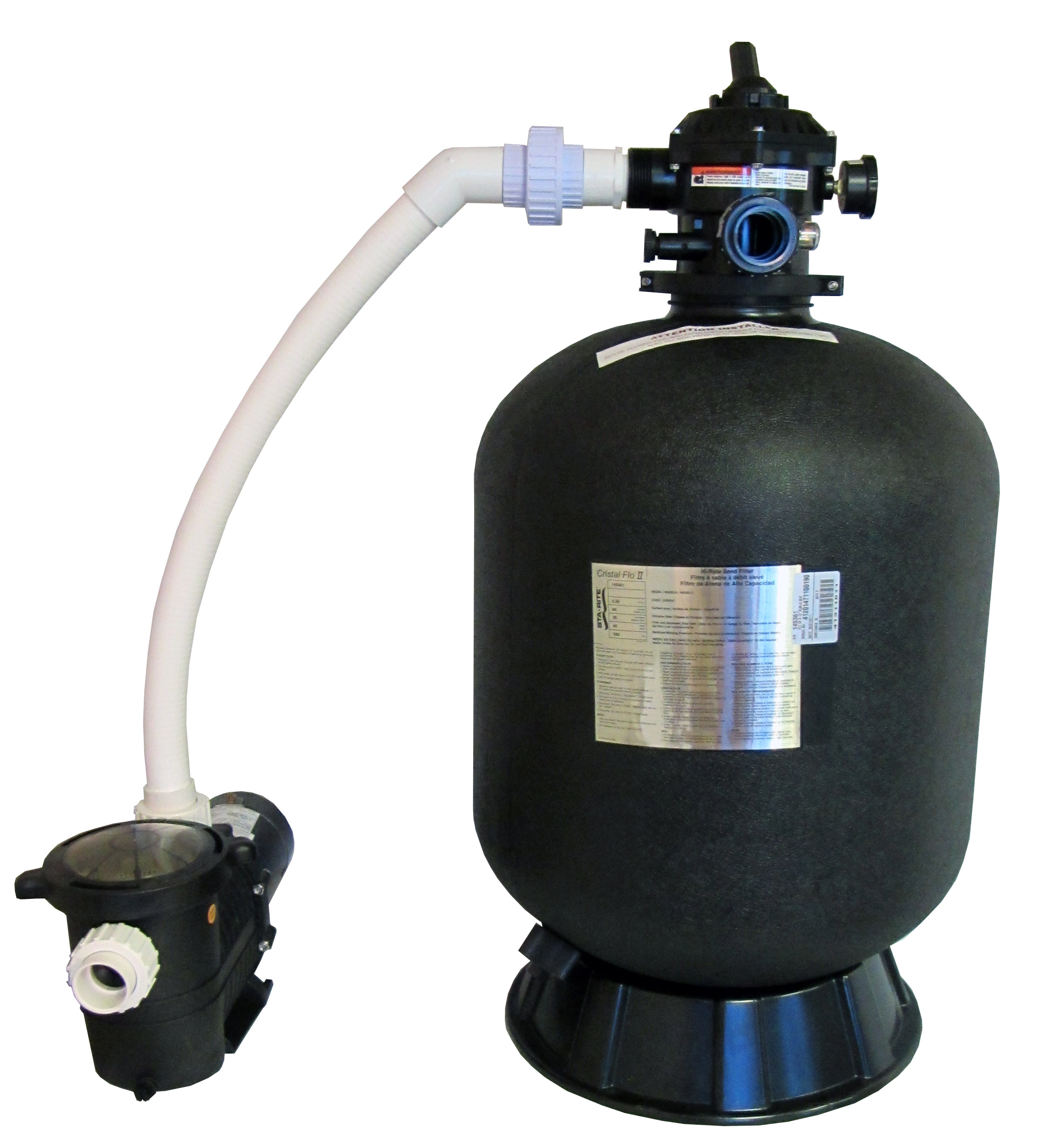 Sta rite in ground swimming pool sand filter system with 0 for Inground pool pump and filter systems
