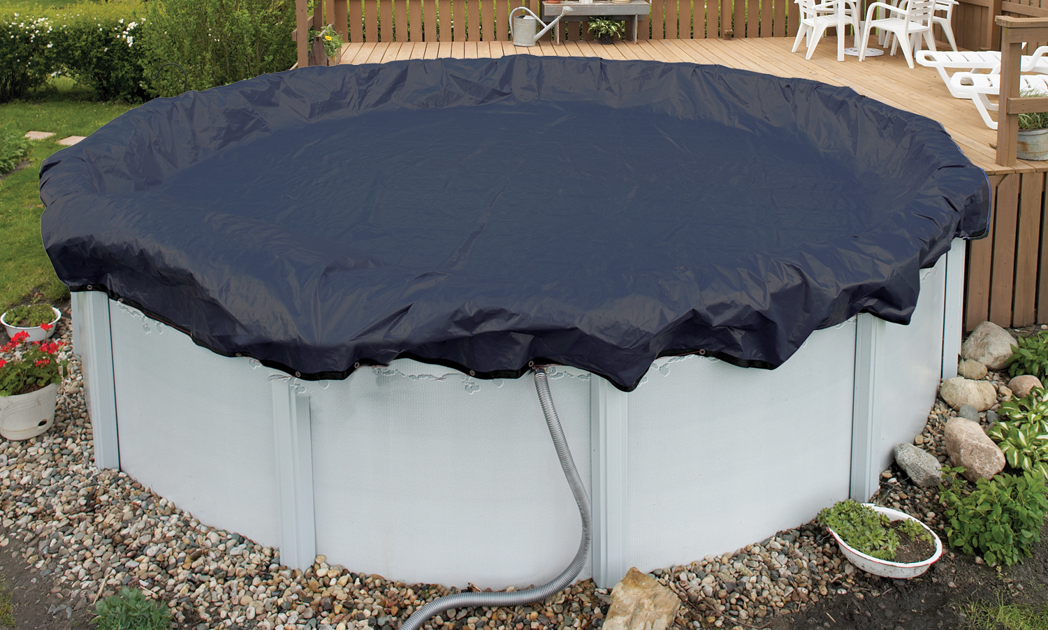 24 Foot Round Above Ground Pool Winter Cover 8 Yr Ebay