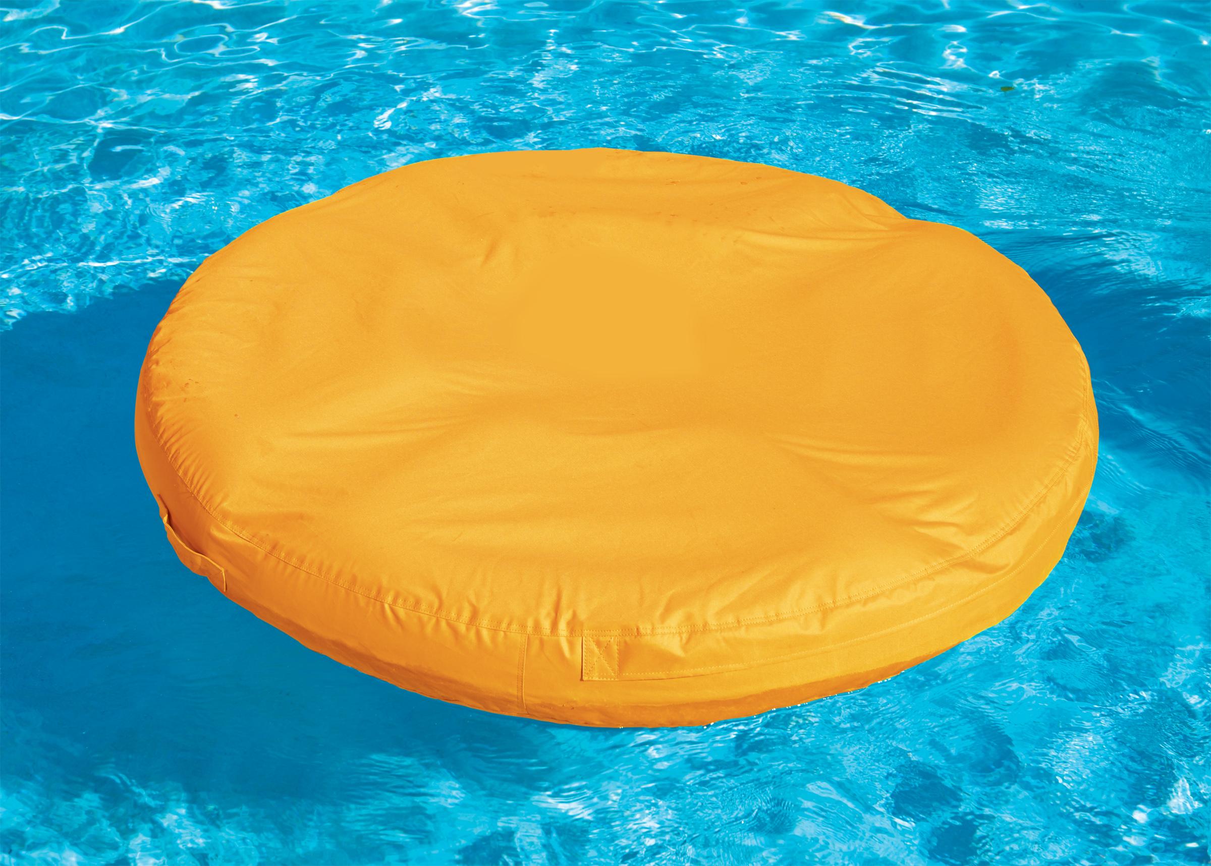 Sunsoft Island Bean Bag Inflatable Lounger For Swimming Pool Orange