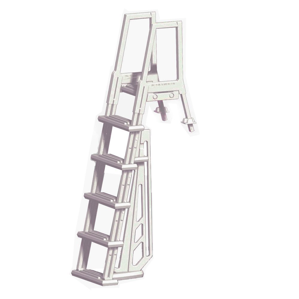 Heavy duty in pool resin ladder for above ground pools ebay for Pool ladder