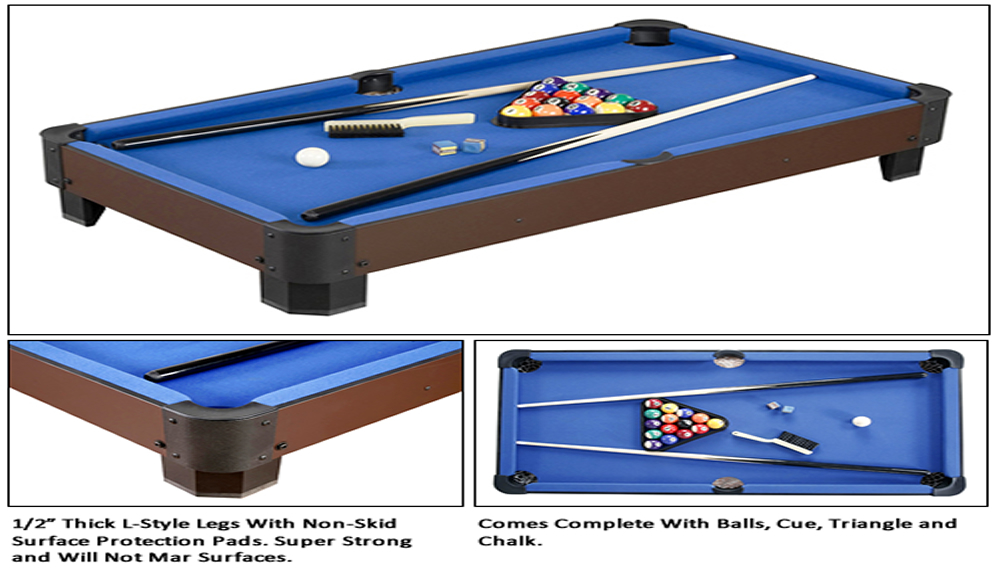 Sharp Shooter 40 Table Top Pool Table Game By Carmelli EBay