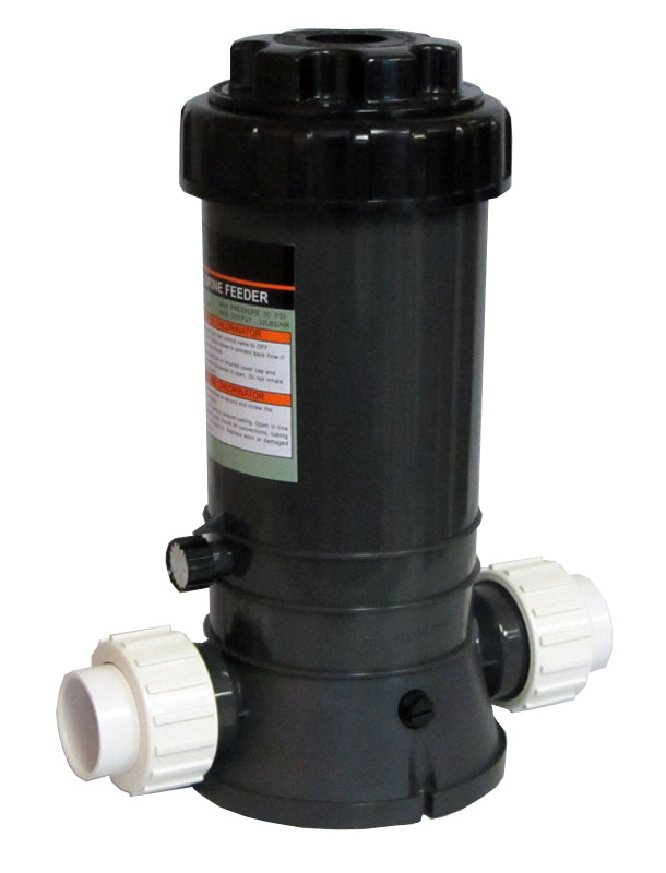 New Automatic Chlorinator For Swimming Pools In Line 9 Lbs With Union Fittings Ebay