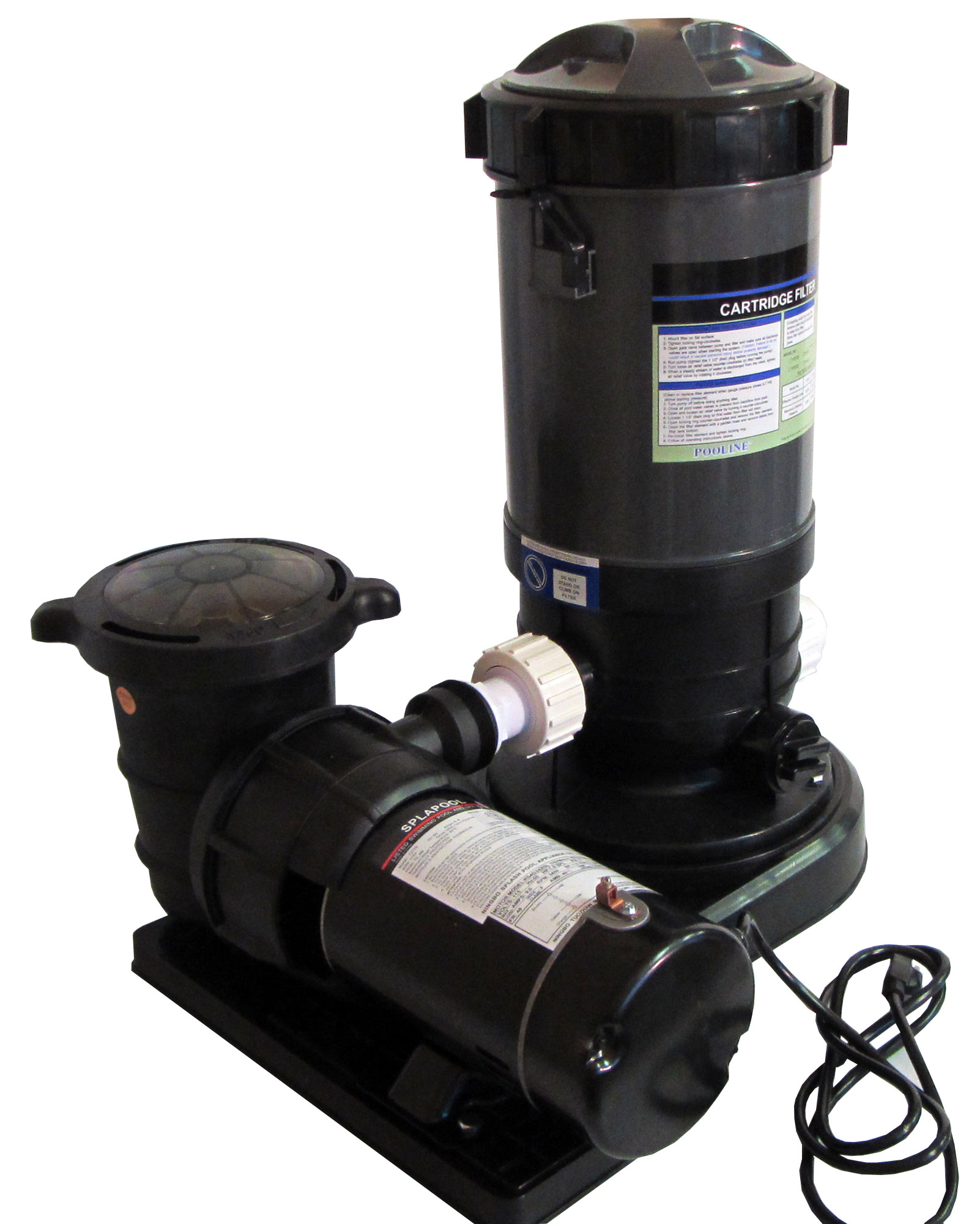 Above Ground Swimming Pool Cartridge Filter System With 0 75 Hp Pump Ebay
