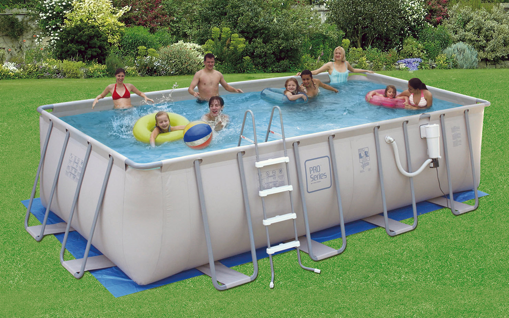 Proseries 9 39 X18 39 Rectangle 52 Deep Metal Frame Above Ground Swimming Pool Ebay