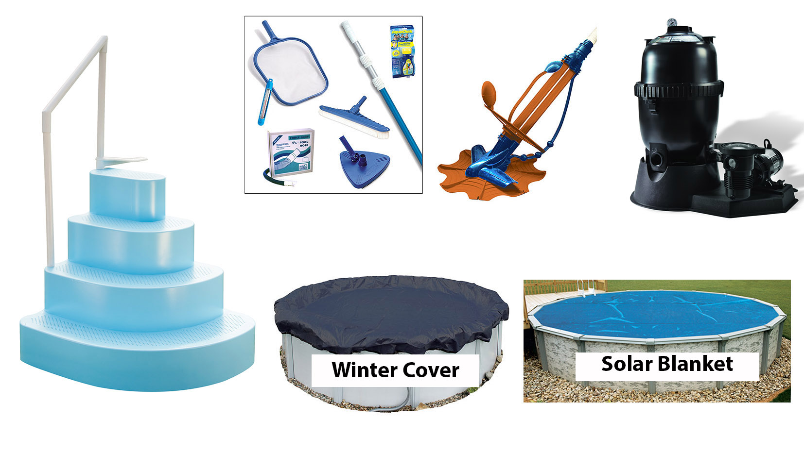 Ultra pool equipment package 27 39 round above ground for Above ground pool equipment