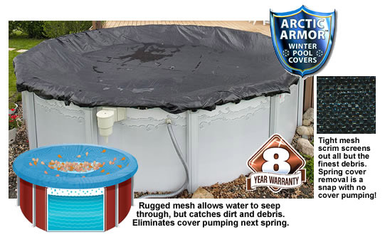 Above ground Rugged Mesh Pool Winter Cover