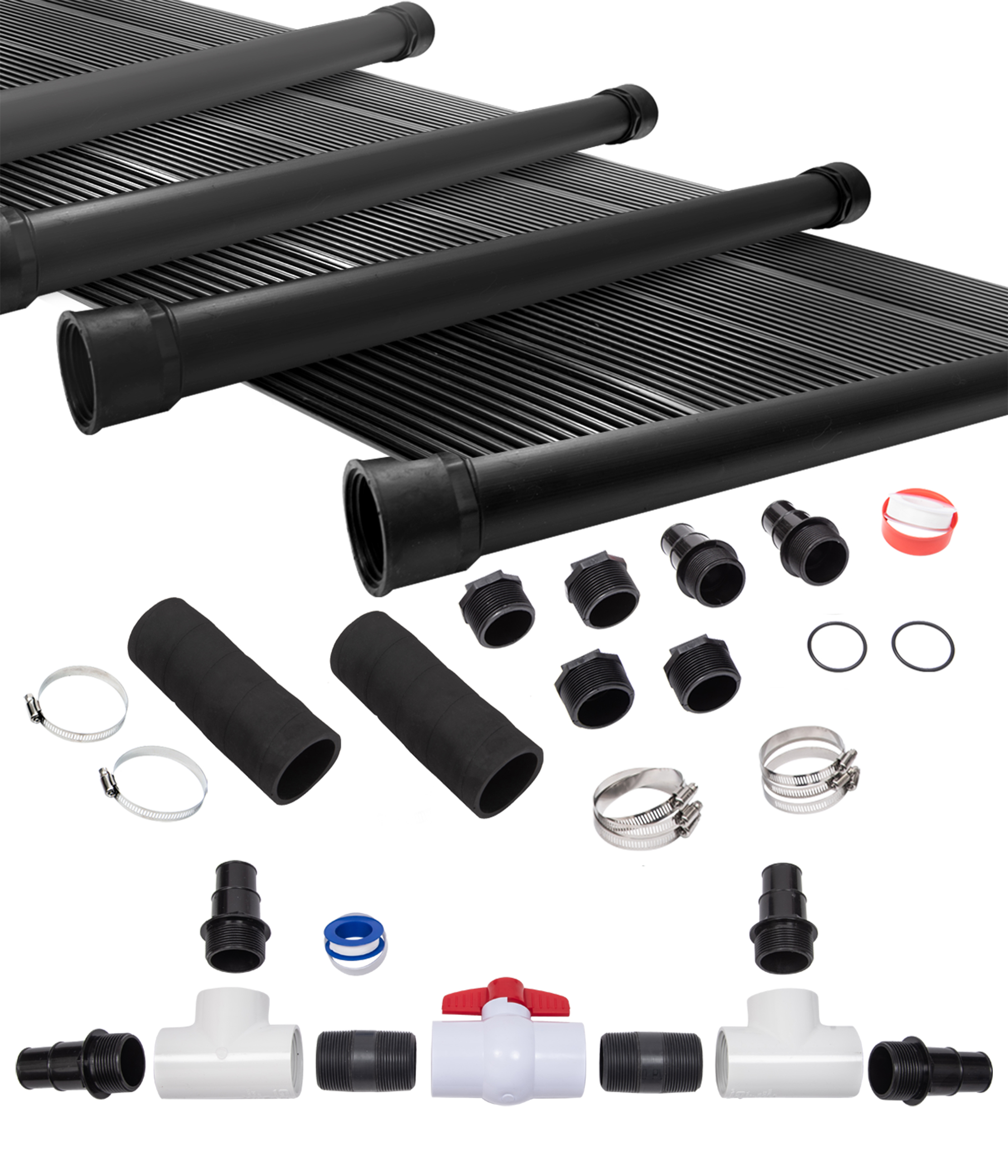 Details about 4-2\'X12\' SunQuest Solar Swimming Pool Heater System with  Diverter Kit